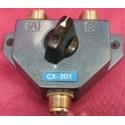 CX-201 kytkin 2 antennille UHF-liittimillä