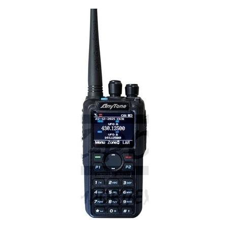 Anytone AT-D878UV VHF/UHF analoginen/digitaalinen käsiradiopuhelin 3100 mAh akulla